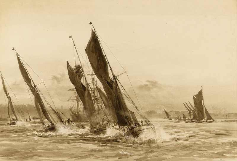 William_Lionel_Wyllie_Barge_match_on_the_Thames